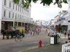 Mackinac Island Main Street with horses