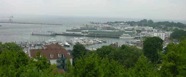 view of village of Mackinac Island