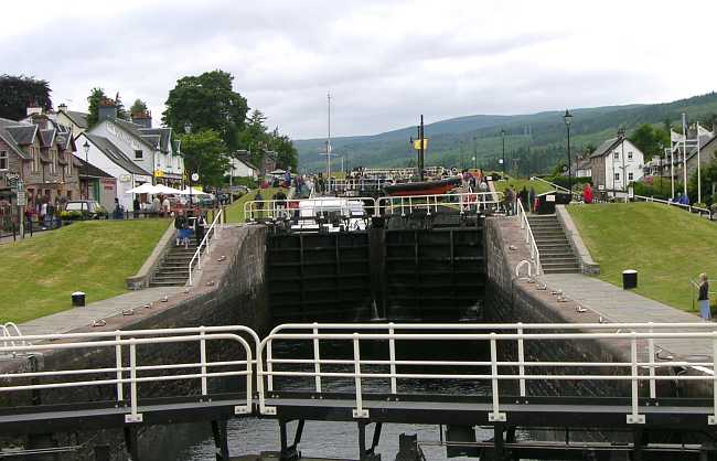 Caledonian Canal lock at Fort Augustus