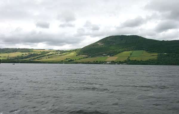 Loch Ness and hills