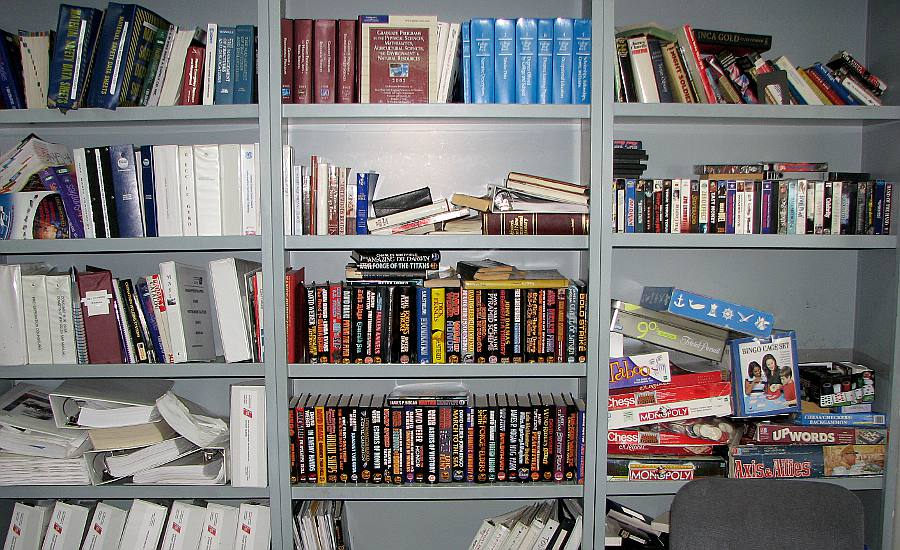 Coast Guard Cutter Mackinaw crew library books and games