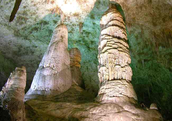 Hall of the Giants in Carlsbad Caverns National Park