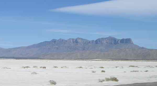 Texas Guadalupe Mountains salt flats