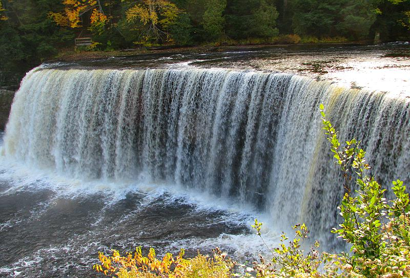 Upper Tahquamenon Falls from above