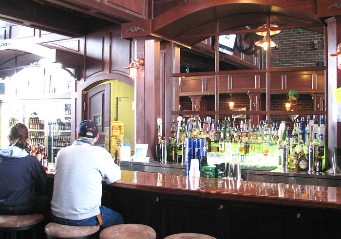Bar at O'Reilly's Irish Pub in Mackinaw City