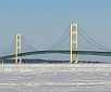 Mackinaw City in winter