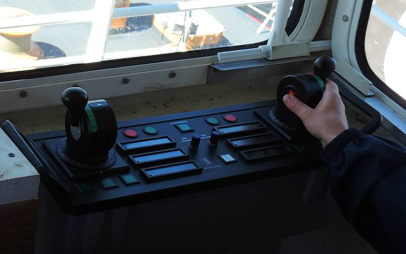 CGC Mackinaw aft maneuvering workstation