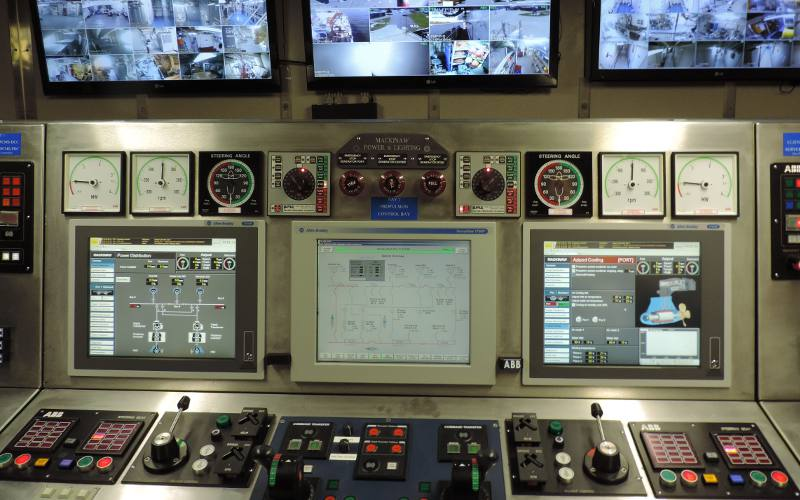 Engineering auxilary control console