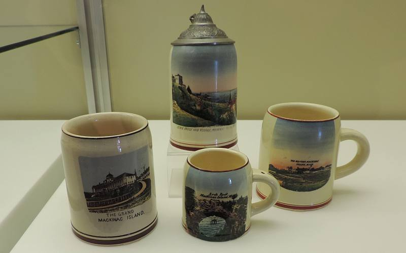 Earthenware cups and mugs - Mackinac Art Museum