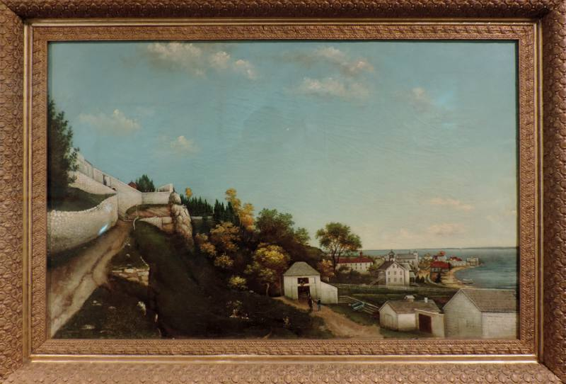 Fort Mackinac oil painting - Mackinac Art Museum