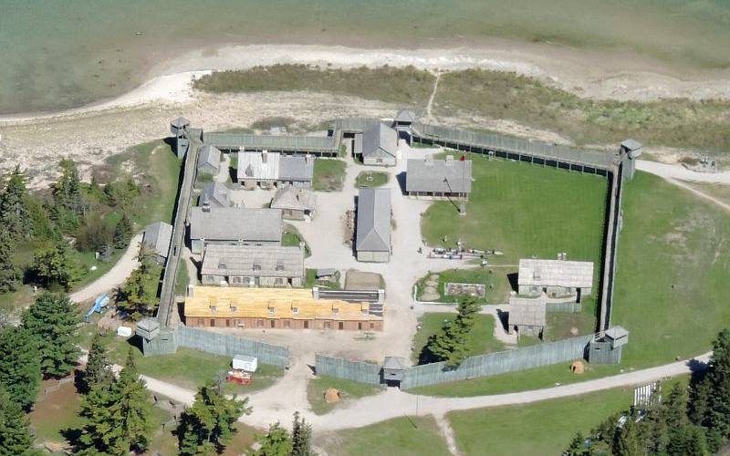 Fort Michilimackinac from the air
