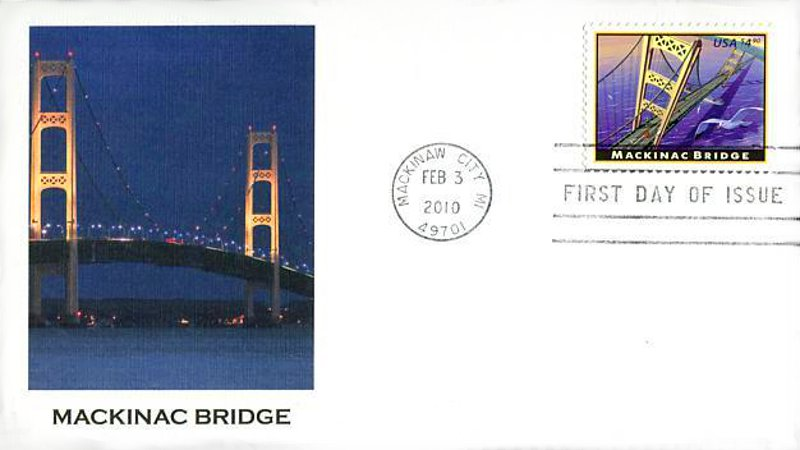 Mackinac Bridge 2010 First Day Cover