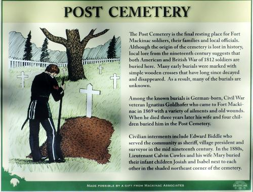 Fort Mackinac Post Cemetery - Mackianc Island, Michigan