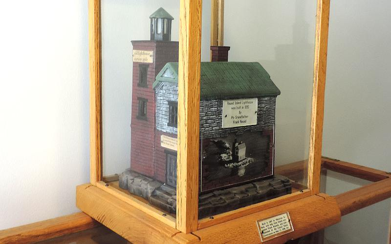 Model of Round Island Lighthouse