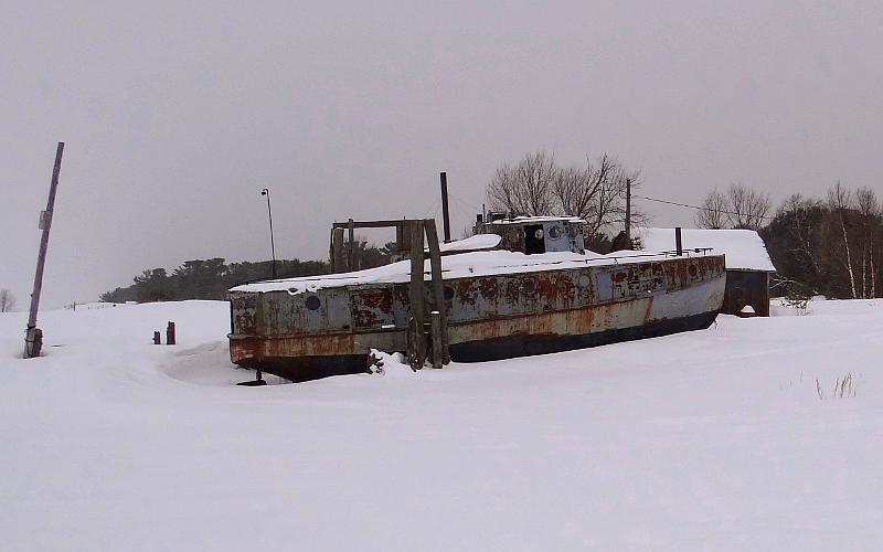 LaBelle fishing boat at Whitefish Point Harbor