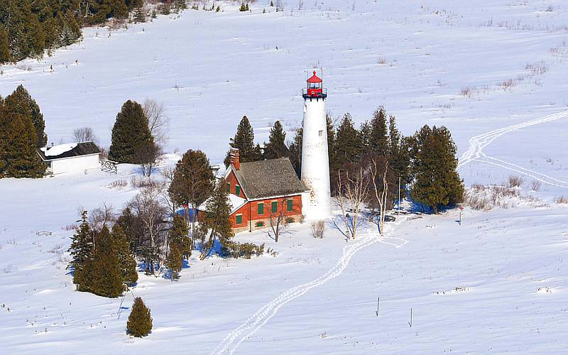 St. Helena Island Lighthouse - Straits of Mackinac