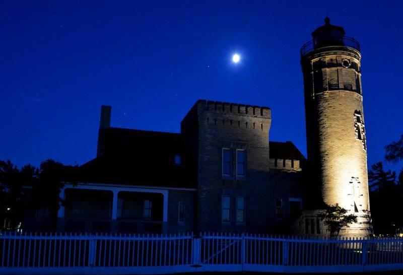 Old Mackinac Point Light (1892) - Mackinaw City near foot of the Mackinac Bridge