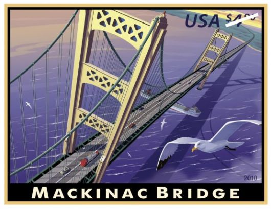 2010 Mackinac bridge Stamp