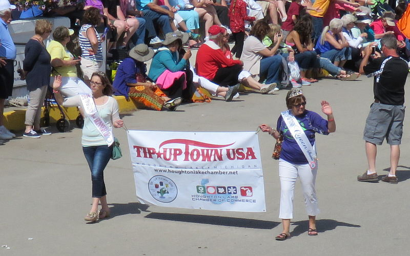 Tip-Up-Town Royalty at the Mackinac Lilac Festival Parade