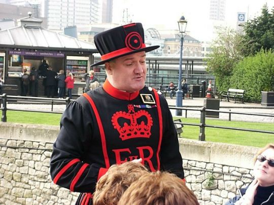 Tower of London beefeater tour guide in uniform