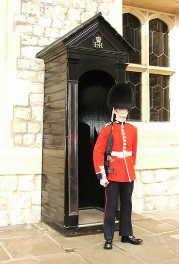 Tower of london uniformed guard