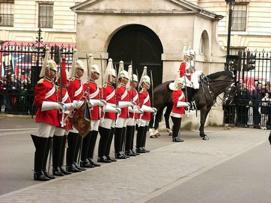 Dismount of the Horse Guards - London