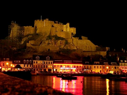 Gorey Castle at night